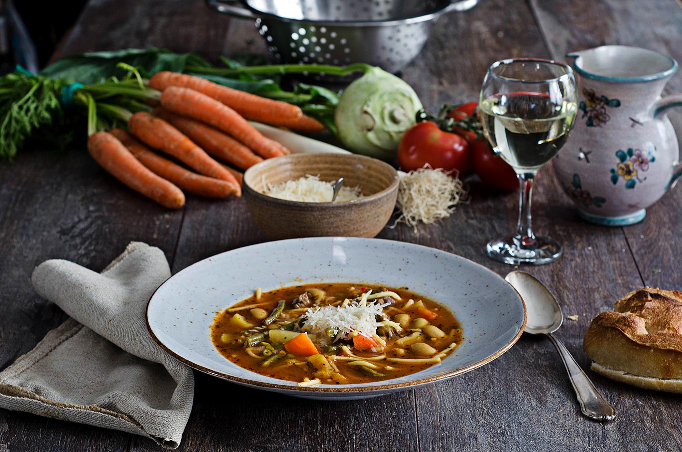 Minestrone – heiße Suppe für kalte Tage